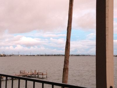 View of Kemah Bridge and Clear Lake from Balcony