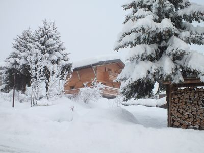 Photo for Luxury Chalet in Les Contamines, ski in/out