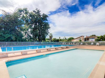 Photo for One bedroom Apartment, sleeps 4 in Saint-Cyprien-Plage with Pool and WiFi