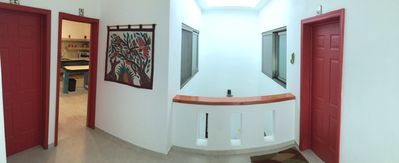 Panoramic view of 3rd floor apartments.  The manager lives in Apt 6.