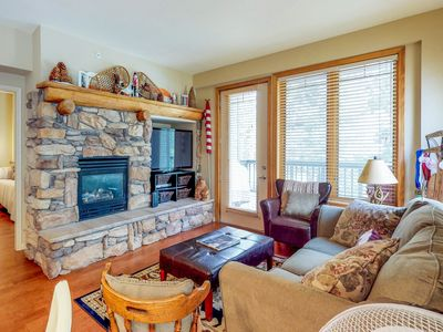Photo for NEW LISTING! Convenient mountain getaway w/view, golf, shared hot tub & pool