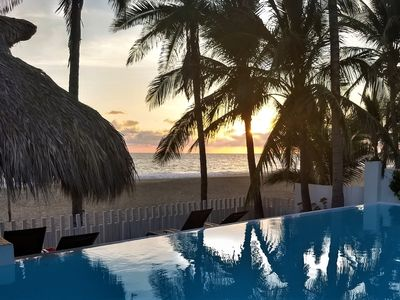 Photo for AWESOME BEACH-FRONT VILLA , STAFF, INFINITY POOL, SLEEPS 25, A/C, PRIVATE BEACH
