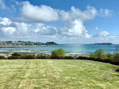 Photo for Architect house, magnificent view of the harbor and the islands of Perros Guirec