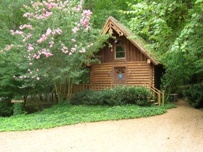 Our Ivy Cottage.  Creek is on the left hand side of picture.