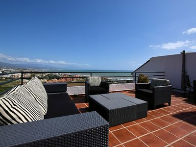 Photo for Comfortable apartment with sea views near Estepona, within walking distance from the sea