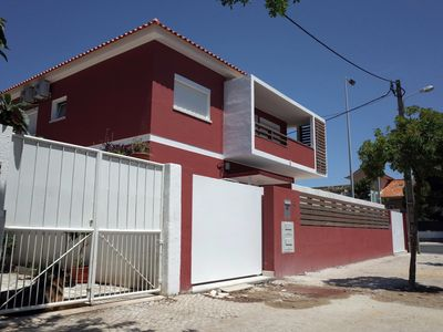 Photo for 500 meters from the beach, free wifi, terrace with barbecue