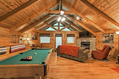 Rustic decor greets you when you step inside the newly remodeled log cabin.