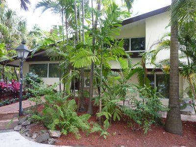 Photo for Resort Style Home w/ tropical garden/Pool and Jacuzzi-walk to the beach