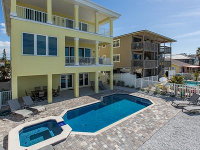 Photo for BRAND NEW CONSTRUCTION 6 BEDROOM, 4.5 BATHROOM DIRECT BEACHFRONT POOL HOME!