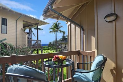 Ocean views from the deck, enjoy coffee outside as the sun rises or whale watch.