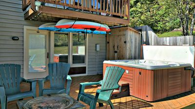 Photo for Ski In/Ski out, lake access, game tables, hot tub, mountain views!