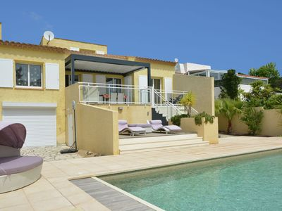 Photo for Nice villa with private swimming pool close to the beach and harbour of Cap d'Agde