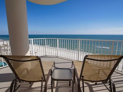 Photo for Corner condo ~ 3 BR ~ Sleeps up to 8 ~ Great Amenities/Location ~ Gulf Front ~ Regency Isle 1001