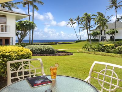 Photo for Poipu Kapili #47: Ground Floor Home with Air Conditioning & Partial Ocean Views!