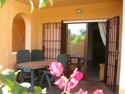Photo for An absolutely superb 2 bedroom apt. with own enclosed garden and patio.