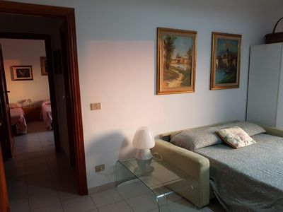 Photo for Large and bright apartment a stone's throw from the sea