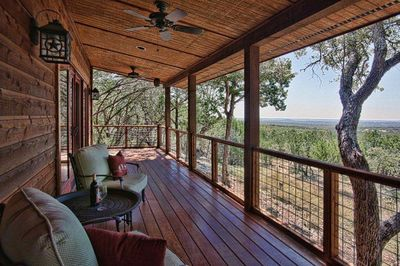 The views from the covered deck are tough to beat!
