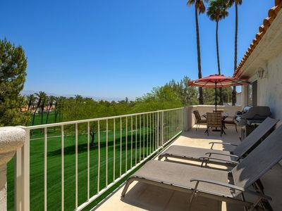 Photo for Golfers Welcome! Panoramic Mountain Views, Balcony Patio w/Grill-Free Tennis/Fitness Desert Falls CC