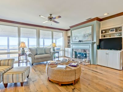 Photo for Large North Tybee Beachfront Home With Beautiful Beach and Bay Views