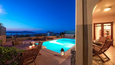 Photo for Villa Elysia - With Private Pool in the sought after Village of Plaka with Panoramic Sea Views, 2 km from Almyrida! Free WiFi