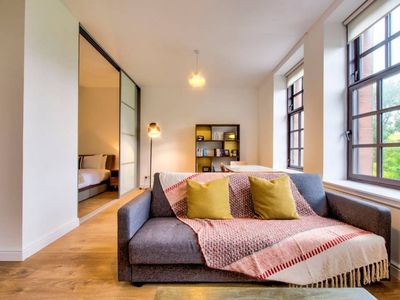 Photo for Bright & Airy Apt views of Glasgow Green w/parking