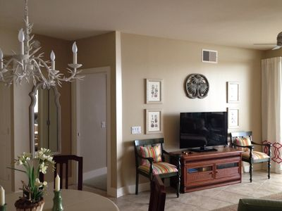 Living room with additional seating if necessary. Wide screen TV.