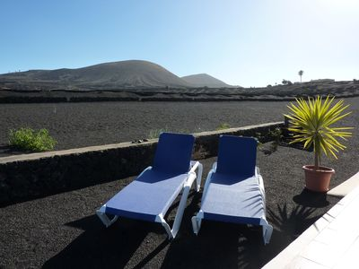 Photo for Holiday house in quiet location with views of the Timanfaya National Park