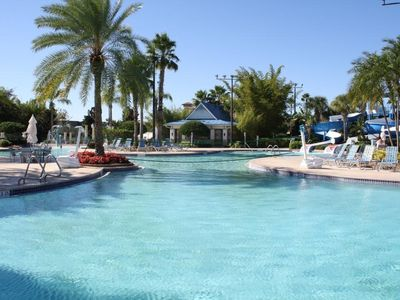 Photo for 2bd/2bh condo sleeps 6 - resort minutes from Disney, Sea World, and others.