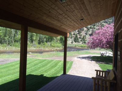 Photo for Beautiful Cabin On The Banks Of Rock Creek - Willow Cabin