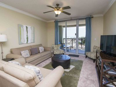 Photo for Beachfront Condo with Free Beach Service! Onsite Fitness Center! Ground Floor Condo with Access to All Amenities