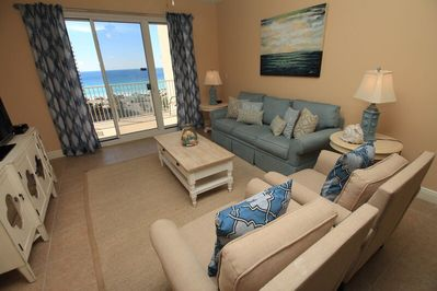 Wonderful beach and gulf views from the living room