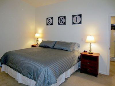Master suite with King bed, flat screen TV with Tivo and xbox