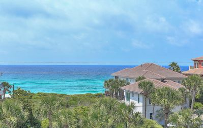 Photo for Gulf Place Top Floor! Ocean View! Sleeps 6! Heated Pools!  2 Min Walk to Beach!