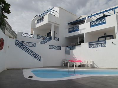Photo for Beautiful crossing apartment, bright, large terrace with view and lovely pool