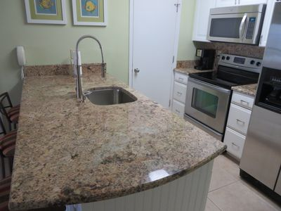 New granite kitchen counter top