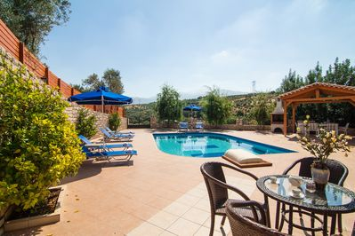 Blue Villa I, Outdoor relaxing area for your breakfast by the pool!