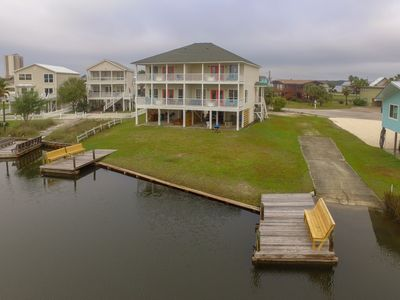 Photo for Anchored A!  Duplex on Little Lagoon, Fish, Swim, or Take a Walk to the Beach