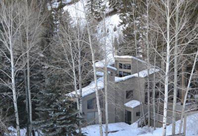 View of the house from the Warm Springs chairlift.