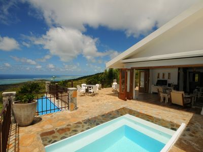 Photo for In Rodrigues, newly built on a large enclosed property, pool