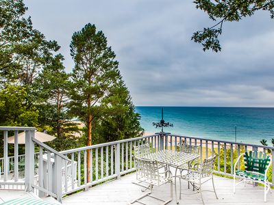Photo for Lakefront house w/ guest house, private association beach, hot tub, amazing view