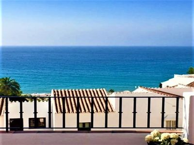 Photo for Outstanding sea view! You can hear the lapping of the waves from the terrace ...