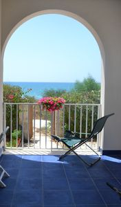Photo for Casa Fronte Mare, sea view, near the beach, maximum relaxation and privacy