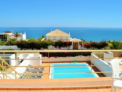 Photo for Incredible sea view, no car required, free WiFi, UKTV, 4 bedrooms, private pool