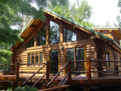 Photo for Cabin Feel ~ Sleeps 8 (with more wildlife sleeping on the 2.29 Acres!)