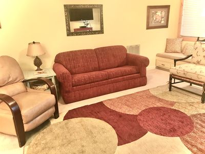Photo for Ultimate Mountain Vacation! Take it easy in this 2 bedroom 1st floor condo!
