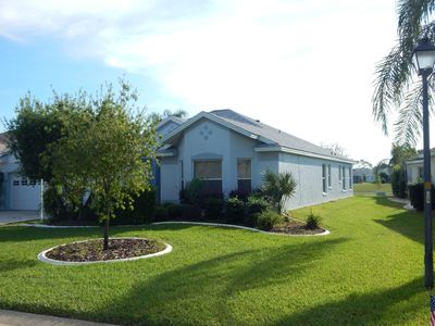 Photo for Enjoy Backyard Privacy, Easy Access to 2 Town Squares, Plus Golf Cart Included!