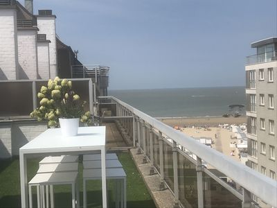 Photo for Superb Penthouse 105 M2 80M2 of sunny terraces sea view 3 bedrooms 2 garages!