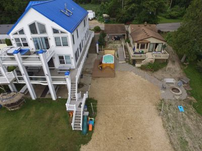 Waterfront 2 rentals with pontoon boat rental 4 story 8 bedroom and cottage