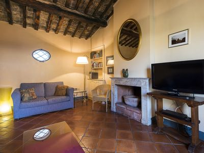 Photo for Charming Terraced Penthouse on Quiet Street in Historic Rome