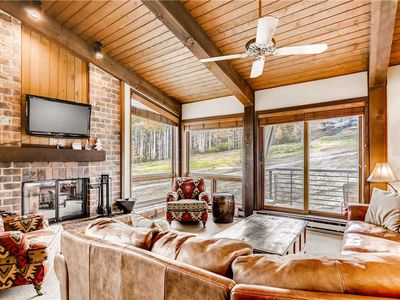 Photo for Mountain view ski-in/ski-out condo with community pool and hot tub
